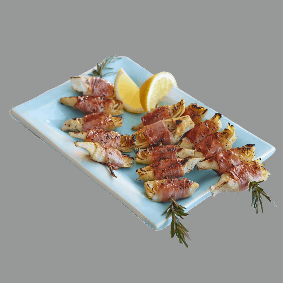 Prosciutto Wrapped Artichoke Hearts